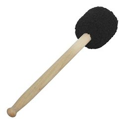 Muslady Drumsticks Concert Bass Drum Mallet Stick Beater with Black Plush Head and Maple Wood Po ...
