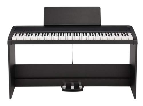 KORG B2SP 88-Key Natural Weighted Hammer Action Digital Piano with Stand and Three-Pedal Unit &# ...