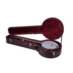 Crossrock CRW600BJBR 5 String Resonator Banjo Case, Multi-layer Wood Case, Vintage Brown