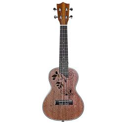 Neewer YHTC-1 Matte Finished 23-Inch Sapele Concert Ukulele 4 Strings with Rosewood Fingerboard  ...