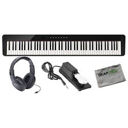 Casio PX-S1000BK 88 Weighted Key Digital Piano w/Cloth, Sustain Pedal, Headphon