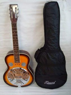 Ktone Acoustic Electric Square Neck Resonator, 4 Band Eq, Sunburst, Free Gig Bag, New