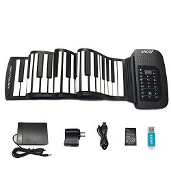Roll up piano portable 88 key soft elastic electronic music keyboard piano built-in loudspeaker  ...