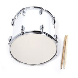 Festnight Snare Drum Kit 14″ x 10″ Professional Marching Snare Drum with Drum Stick  ...