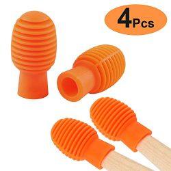 Drum accessories 4 Pcs Drum Mute Drum Dampeners Silicone Drumstick Silent Practice Tips Replacem ...