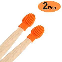 Drum accessories 2 Pcs Drum Mute Drum Dampeners Silicone Drumstick Silent Practice Tips Replacem ...