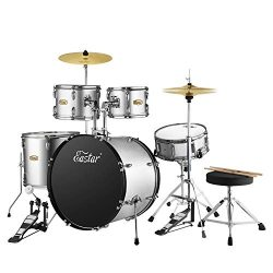 Eastar 22 inch Drum Set Kit Full Size for Adult Junior Teen 5 Piece with Cymbals Stands Stool an ...
