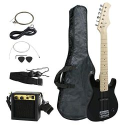 Smartxchoices 30″ Kids Electric Guitar with 5W Amplifier,Picks, Gig Bag, Strap, Cable & ...