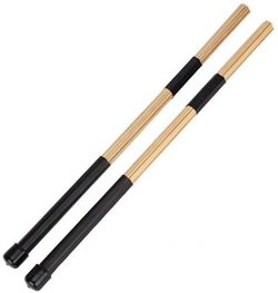 YiPaiSi 2PCS H-RODS Hot Rods Drumsticks, Hot Rods Rute Jazz Drum Sticks Drumsticks, Wooden Rods  ...