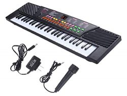 54 Keys Music Electronic Keyboard Kid Electric Piano Organ W/Mic & Adapter