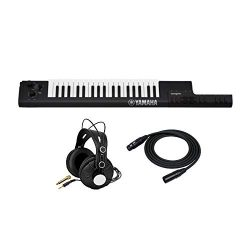 Yamaha Sonogenic SHS-500 Keytar (Black) with Power Supply Bundled with Knox Gear Studio Headphon ...