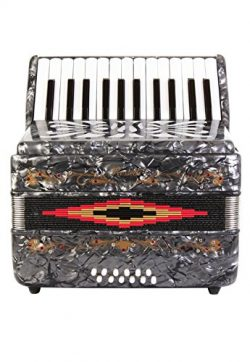 Rossetti Beginner Piano Accordion 12 Bass 25 Keys Grey