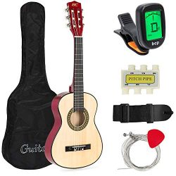 Best Choice Products 30in Kids Classical Acoustic Guitar Beginners Set w/Carry Bag, Picks, E-Tun ...