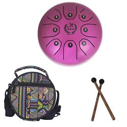 PROKTH 5.5 Inch Mini Steel Tongue Drum Handpan Brahma Drum Concert Percussion