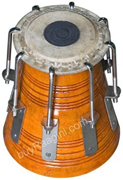 Maharaja Musicals Bengali Khol/Dayan, Tuned by MKS, High Pitch Mahogany Wood Dayan – Tabla ...