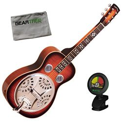 Gold Tone PBS-D Paul Beard Signature Squareneck Deluxe Resonator Guitar w/Geart