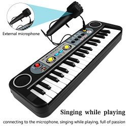 ZJTL Piano Toy Keyboard for Kids Gift Music Instruments with Microphone 37 Keys MQ-3768