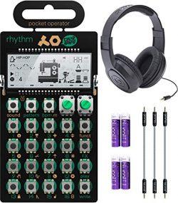 Teenage Engineering PO-12 Pocket Operator Rhythm Drum Machine Bundle with Samson SR350 Over-Ear  ...