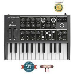 Arturia MicroBrute Analog Synthesizer includes Free Wireless Earbuds – Stereo Bluetooth In ...