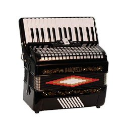Baronelli 30 Key 48 Bass, 3 Switch Piano Accordion, With Staps, Case, Black