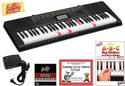 Casio LK-265 Lighted Keys Keyboard Bundle with Power Supply, Removeable Stickers, Instructional  ...