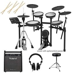 Roland TD-17KVX V-Drums Electronic Drum Set – With Roland PM-100 80W Personal Drum Monitor ...