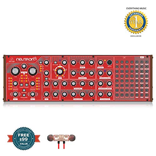 Behringer Neutron Paraphonic Analog and Semi-Modular Synthesizer includes Free Wireless Earbuds  ...