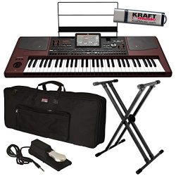 Korg Pa1000 Professional Arranger Keyboard with Keyboard Bag, Stand, Piano-Style Sustain Pedal a ...