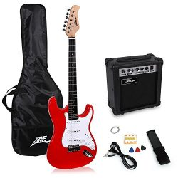 PylePro Full Size Electric Guitar Package w/ Amp, Guitar Bundle, Case & Accessories, Electri ...