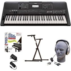 Yamaha PSR-E463 EPY Educational Keyboard Pack with Power Supply, Bolt-On Stand, Headphones, USB  ...