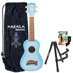 Kala MK-SD/LBLBURST Light Blue Soprano Dolphin Series Ukulele with Stand, Clip-On Tuner, Bag &am ...