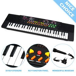 MagDurnus 54-Key Portable Electronic Music Keyboard for Kids Children's Mini Size Electron ...