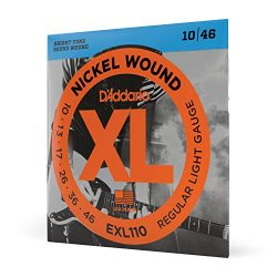 D'Addario Electric Guitar Strings Regular Light Gauge Round Wound with Nickel-Plated Steel ...