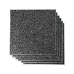 RHINO Acoustic Absorption Panel, Beveled Edge, 12″ X 12″ X 0.4″, Dark Gray Col ...