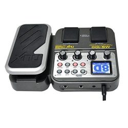 NUX MG-100 Modeling Guitar Processor Guitar Effect Pedal Drum Tuner Recorder 58 Effect 72 Preset ...