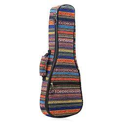 CAHAYA Ukulele Bag Soprano Ukulele Case 21 Inch Soft 0.35 Inch Thick Cotton Padded with Adjustab ...