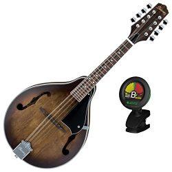 Ibanez M510OVS A Style Mandolin Open Pore Vintage Sunburst Finish with Tuner