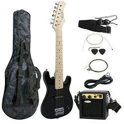 ZENY 30 inch Kids Electric Guitar with 5w Amp, Gig Bag, Strap, Cable, Strings and Picks Guitar C ...