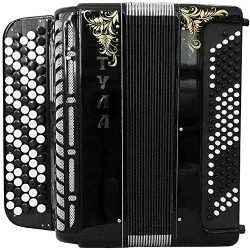 Brand New 5 Rows Bayan Tula 209 B-system Stradella, Russian Chromatic Button Accordion, High-cla ...