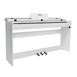 ZHRUNS 88 Key Weighted Digital Piano with Bluetooth & MP3 Function, Remote Control, Power Su ...