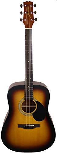 Jasmine 6 String Acoustic Guitar, Right, Matte Sunburst, (S35-SB)
