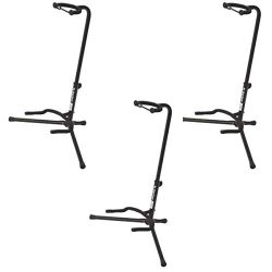 On Stage XCG4 Velveteen Padded Tubular Guitar Stand – (3 Pack)