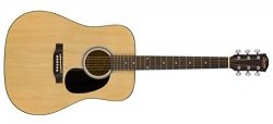 Squier by Fender SA-150 Squier Beginner Dreadnought Acoustic Guitar – Natural Finish