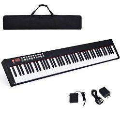 Costzon BX-II 88-Key Portable Weighted Digital Piano, Upgraded Electric Keyboard with MIDI/USB K ...