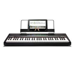 Alesis Recital 61 – 61-Key Digital Piano / Electric Keyboard with Built-In Speakers, Semi  ...