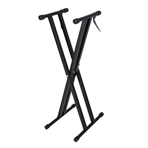 GOTOTOP Double-X Keyboard Stand Adjustable Piano Keyboard Stand with Locking Straps and Solid Me ...