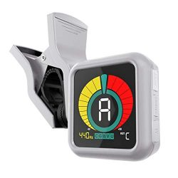 KLIQ UberTuner – Clip-On Tuner for All Instruments – with Guitar, Bass, Violin, Ukul ...