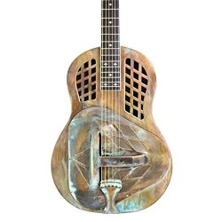 Royall Trifecta Distressed Brass 12 Fret Tricone Resonator