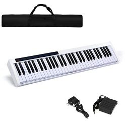 Costzon 61-Key Portable Touch Sensitive Keys Digital Piano, Upgraded Premium Electric Keyboard W ...