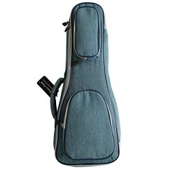 MUSIC FIRST Original Design 15mm Thick Vintage Style Pure Cotton Jeans Cloth/Denim Ukulele Case, ...